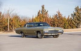 1968 Chevrolet Impala SS coupe tan   24 x 36 INCH   sports car - $18.99