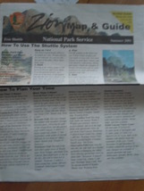 Zion Map & Guide National Park Service Summer 2001 - $6.99