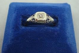 Elegant 14k Gold Filigree Ring with .05ct Genuine Natural Diamond (#960) - $192.38