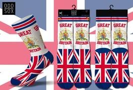 ODD SOX GREAT BRITAIN ENGLAND BRITISH FLAG GLASGOW LONDON PRIDE FOOTWEAR... - $14.99