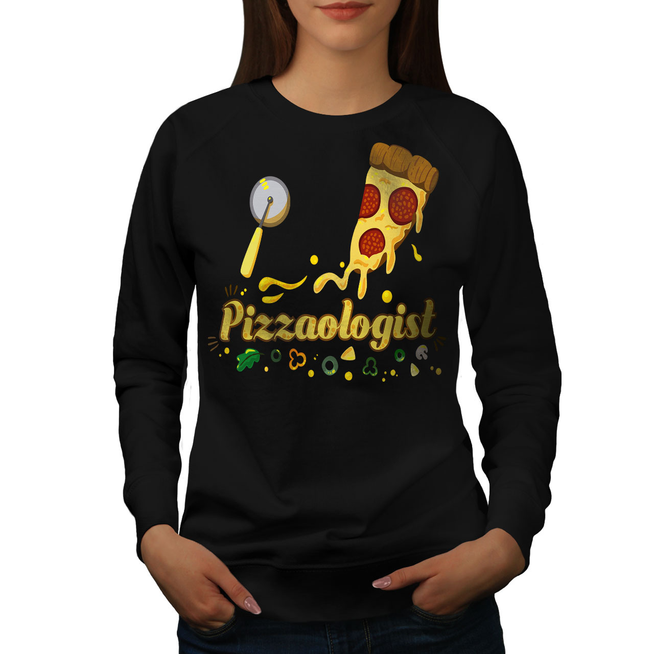 Primary image for Pizza Expert Jumper Funny Women Sweatshirt
