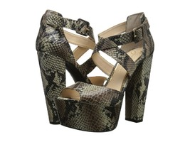 Women's Jessica Simpson Derian Peep Toe Sandals, Size 5.5 Natural JS-DERIAN - $99.95