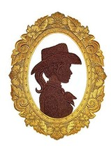 Custom and Unique Cowboy Gear[Cowgirl Cameo ] Embroidered Iron on/Sew pa... - $19.79