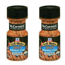 (2) McCormick Grill Mates SPICY Montreal Steak Seasoning shaker spices p... - $19.75