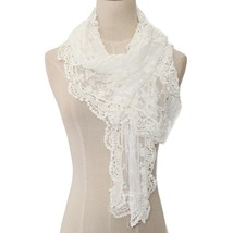 White Lace Wrap, White Lace Shawl, Lightweight Layers, Lace Shawl, White