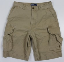 "MINT Polo Ralph Lauren 10 1/2"" Gellar Cargo Shorts MENS 30 Khaki Cotton - $34.99"