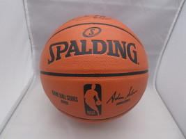 KARL MALONE / NBA HALL OF FAME / AUTOGRAPHED FULL SIZE NBA LOGO BASKETBALL COA image 3