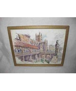 "Neat Vintage 8"" X 10"" The Roman Bath & Abbey Bath Print Kenneth Bromley - $26.91"