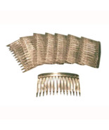 48 Clear Plastic Hair combs for veils halos crafts - $19.75