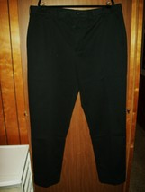 New Men's Izod Performance Plus Stretch Pants Size 44 X 34 Big & Tall Black - $29.35