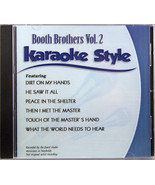 Booth Brothers Volume 2 Christian Karaoke Style NEW CD+G Daywind Songs - $15.86