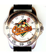 Baltimore Orioles MLB Mans Sportivi Vintage 1990's Leather Band Watch Un... - $78.06