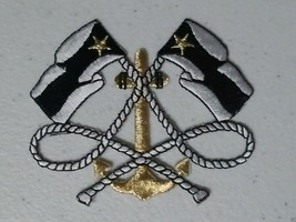 Marine club nautical anchor ship marine embroidered iron on patch