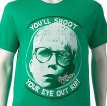 A CHRISTMAS STORY You'll Shoot Your Eye Out Kid  MEN'S Shirt Sz L  RALPH... - $15.83