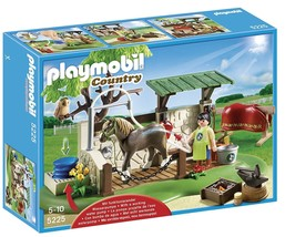PLAYMOBIL 5225 COUNTRY POANY FARM HORSE AND HORSE CARE STATION PLAY SET ... - $98.90