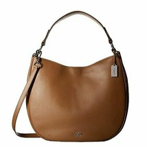 Coach Glovetanned 36026SVSD Beige Tan Leather Calf Nomad Hobo Ladies Han... - $349.00