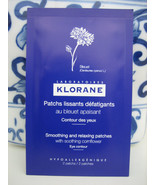 NEW KLORANE SOOTHING RELAXING UNDER EYE CONTOUR DECONGESTING PATCHES MAS... - $3.95