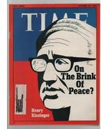 Time - October 20. 1972 Brink of Peace, Henry Kissinger, Richard Nixon, ... - $8.81