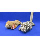 TY Beanie Babies Plush Original Stuffed Animal 1993 Cubbie & 1996 Freckl... - $12.22