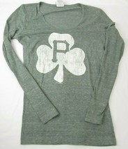 5th & Ocean Womens Med Baseball Tee MLB Pittsburgh Pirates Long Sleeve Shamrock - $12.86