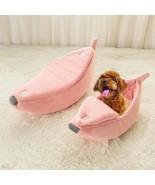 Pet Bed Banana Shape Nest Fluffy Warm Soft Sleep Plush Fleece Bed Dog Ca... - $49.00