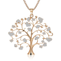 Erican simple heart set glass sone wish tree necklace creative personality tree of life thumb200