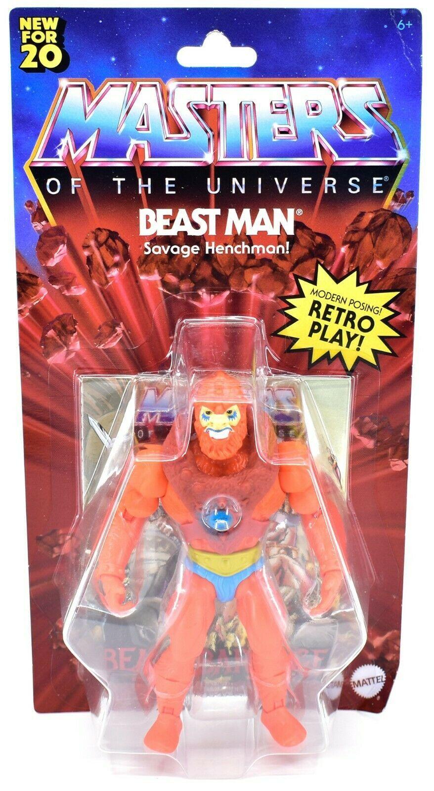 Mattel Masters of the Universe MOTU Beat Man Retro Play Action Figure GNN92