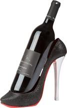 High Heel Wine Bottle Holder Ceramic Shoe Bar Decor Display Stand Black ... - $21.36