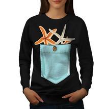 Star Fish In Pocket Jumper Funny Women Sweatshirt - $18.99