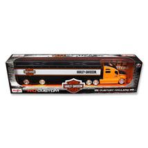 DDS-122 Harley Davidson Custom Hauler Trailer Orange Custom Haulers Seri... - $35.31