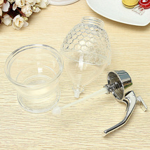 200ML Honeycomb Dispenser Acrylic Honey Pot Gravy Boats Crystal Syrup Di... - $21.56