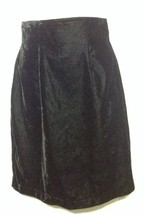 Vintage La Belle Fashions Black Velvet Straight Short Skirt Size 3/4 NWT - $12.59