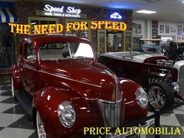 Speed Shop Mechanic Auto Stop Price Automobilia Collection Metal Sign - $30.00
