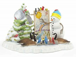 Lenox Bywaters A Snowy Forecast Weatherman Snowman Figurine Canadian Gee... - $193.05