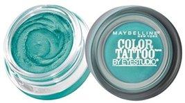 Maybelline EyeStudio Color Tattoo 24Hr Eyeshadow, Edgy Emerald [50], 0.14 oz (Pa - $10.89