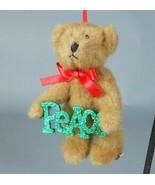 Boyds Peace Sparklewish Plush Bear Christmas Ornament 4014684 - $14.00
