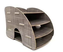 Curved 4-Tier Desk Organizer, Document Tray, File Rack, Paper Holder. (G... - $33.21
