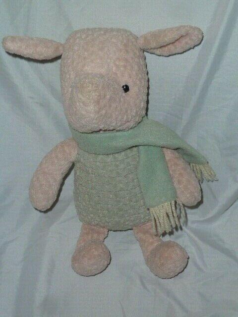 Vintage The Disney Store Stuffed Plush Chenille Winnie The Pooh Piglet Nursery - $59.39