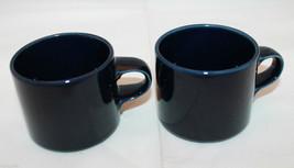Set of 2 Dansk Flora Navy Blue Coffee Tea Mug Cups Denmark - $38.50