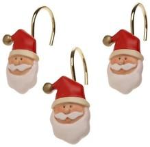 Carnation Home Fashions Santa Claus Ceramic Resin Shower Curtain Hooks-s... - $11.33 CAD