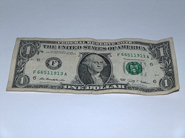 2009 $1 Bill US Bank Note Date Year 1913 Pairs 1 6 66511913 Fancy Money ... - $11.94