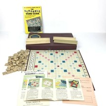 Vintage SCRABBLE BOARD GAME by Sechlow & Righter Complete Set 1953 - $9.44