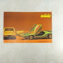 Solido Diecast Toy Car Catalogue Export 24 1972 in English  - $9.99