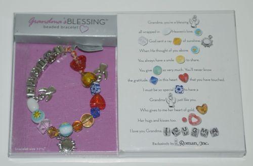 Roman 40565 Grandmas Blessing Beaded Bracelet Glass Beads Multi Colored