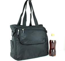 Authentic Samsonite Black Nylon Canvas Shoulder Bag Hand Bag Business Ba... - $98.01