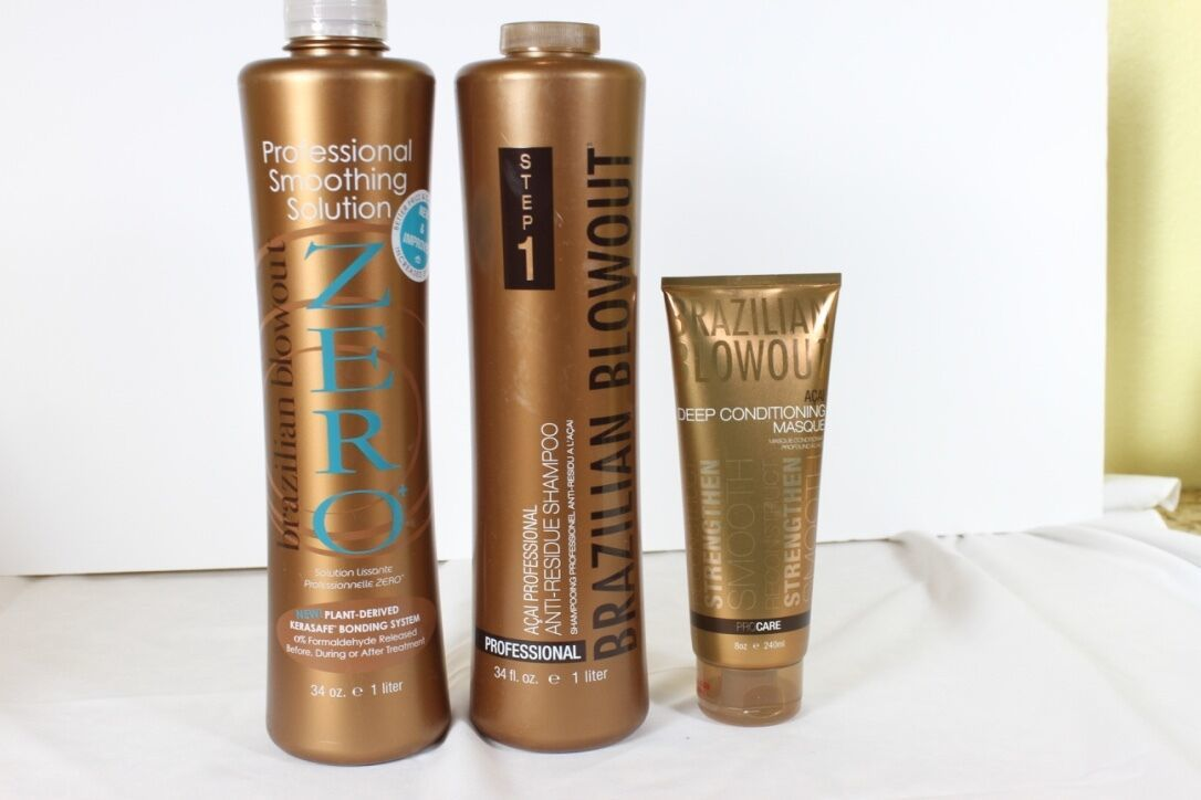 Brazilian Blowout Zero 1005ml, Anti Résidu Shampooing 1005ml & Masque 237ml