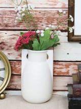 Teco Art Pottery by Frank Lloyd Wright Satin White 2 Buttress Feature Va... - $59.99