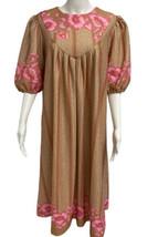 Vintage Donna Abito 21.3m Manica Corta con Fiori Made IN Taiwan Misura A8 - $14.15