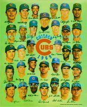 1969 Chicago Cubs Team Facsimile Signed 8x10 Rp Photo Ernie Banks Ron Santo + - $17.99