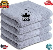Pack of 4 Premium Cotton Hand Towels 16 x 28 Inches 600 GSM Like Utopia ... - $14.98